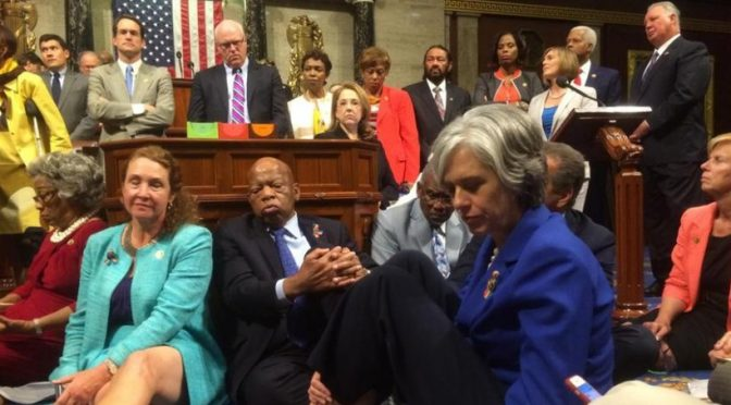 Dems Tantrum, Hold Sit-In